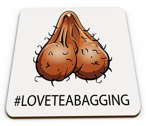 #LOVETEABAGGING Funny Novelty Gift Mug COASTER